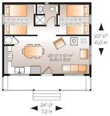 Calculate Square Footage Of A House Cabin Style House Plan 2 Beds 1 00 Baths 480 Sq Ft Plan 23 2290