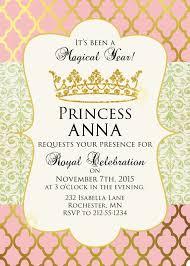 Princess Invitation Card Sugar And Spice Invitations Pink And Gold Princess Party