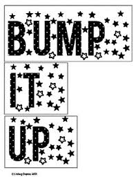 bump it it up bulletin board ready words and posters