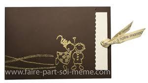 faire part soi m me mariage idée de faire part de mariage moderne chocolat doré