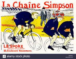 bureau poste toulouse la chaine 1896 nouveau poster by henri de toulouse stock
