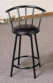 24 Bar Stool With Back 24 Swivel Bar Stool With Back In Black Bar Stools