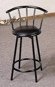 Black Swivel Bar Stool 24 Swivel Bar Stool With Back In Black Bar Stools