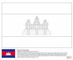 flag of cambodia for coloring page countries u0026 culture asian
