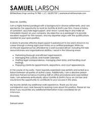 ideas collection cover letter example for paralegal position on