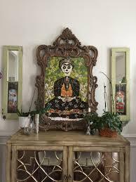 frida kahlo art mosaic wall art day of the dead mixed media