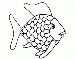 rainbow fish outline many interesting cliparts