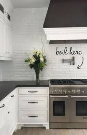 brick kitchen backsplash create an statement with a white brick wall painted