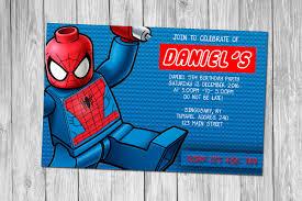 spiderman birthday invitation templates free choice image
