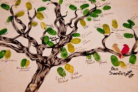 wedding tree guest book wedding guest book thumbprint tree