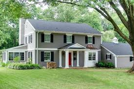 one colonial house plans two colonial house exterior after update in one
