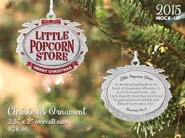 new popcorn store pewter ornament announced the