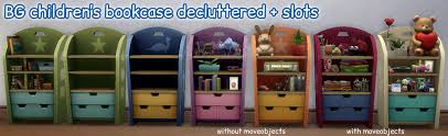 mod the sims decluttered empty children u0027s bookcase