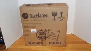 Portable Indoor Outdoor Fireplace by Nu Flame Irradia Noir Portable Indoor Outdoor Ethanol Tabletop