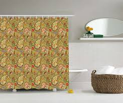 Oriental Shower Curtains Woodland Decor Shower Curtain Forest Springtime Freshness Foliage