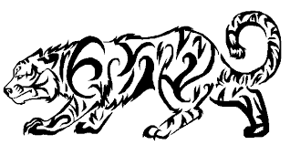 tribal tiger design by malicecedrus on deviantart