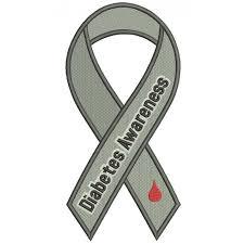 awareness ribbon filled machine embroidery design digitized pattern