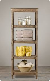 etagere bathroom metal and wood bathroom shelf