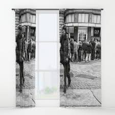 Santa Curtains Street Santa Window Curtains Society6
