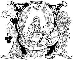 alice wonderland coloring pages batch coloring
