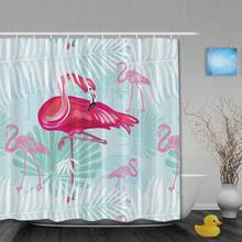 Flamingo Bathroom Compare Prices On Animal Shower Curtains Online Shopping Buy Low