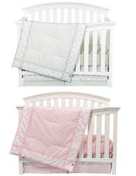 Nursery Bedding Sets For Girls by Matching Pink And Sea Foam Boy Girl Nursery Bedding Sets For Twins