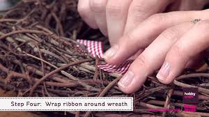 Diy Twig Wreath by How To Make A Nordic Hearts Twig Christmas Wreath Youtube