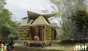 low cost houses bamboo by h u0026p architects