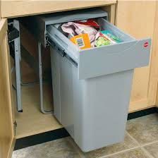 Pull Out Trash Can 15 Inch Cabinet Hafele Trash Cans And Recycle Bins Kitchensource Com