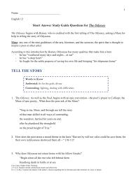 answer key short answer study guide
