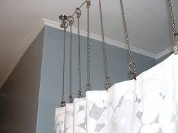 Curtain Rod Shower Best 25 Curtain Rod Extender Ideas On Kitchen Curtain