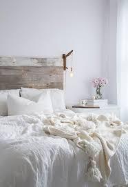 all white bedroom rustic barnwood headboard http www