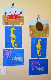 summer and sea hand and footprint craft