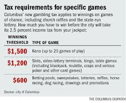 taxes on table game winnings ohio casino cities tax your winnings news the columbus dispatch
