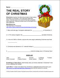 education world internet scavenger hunt the real story of christmas