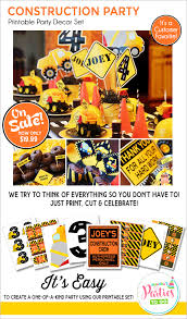 construction birthday construction party printables