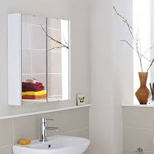 Premier Asselby Bathroom Cabinet NVM Mm White - Bathroom cabinet mirrored 2