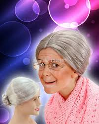 old lady halloween mask old lady grey wig wig collections