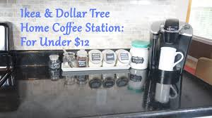 ikea u0026 dollar tree home coffee station for under 12 youtube