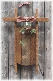 primitive wood crafts sled wood craft items