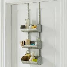 over the door organizer shelf over the door grey organizer