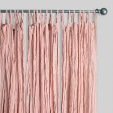 Blush Pink Curtains Blush Cotton Crinkle Voile Curtains Set Of 2 World Market