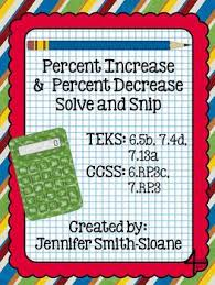 shopping with decimals and percent increase decrease round up