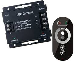 tape lights with remote remote control touch key dimmer for 12v single color led strip light