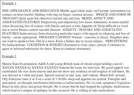 mental status exam template a comparison of mental state examination documentation by junior