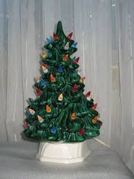 vintage ceramic tree with light up candle
