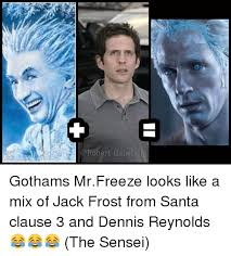 Mr Freeze Meme - robert gabel jr gothams mrfreeze looks like a mix of jack frost