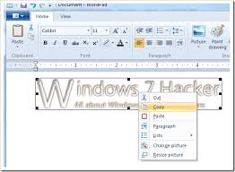 how to use paint drawing to edit images in wordpad in windows 7