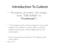cubist poetry introduction to cubism