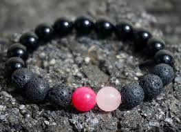 black bracelet pink images Boybeads for breast cancer awareness october charity pink lava jpg